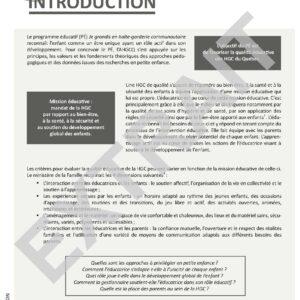 Programme éducatif Je grandis-garderie communautaire – site 10